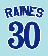Tim Raines #30 - Montreal Expos 1980-1992, 2001