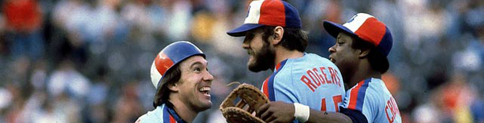 Montreal Expos Gary Carter and Steve Rogers victorious.Credit: Heinz KluetmeierSetNumber: X24899 TK4 R6 F14